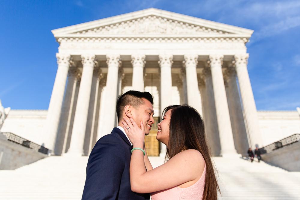 Supreme Court engagement session in Washington, DC | Best DC engagement photography