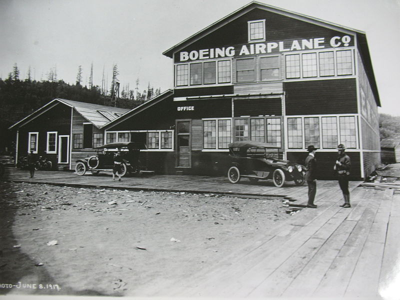 "Building No. 105, AKA ""Red Barn,"" now at the Museum of Flight."