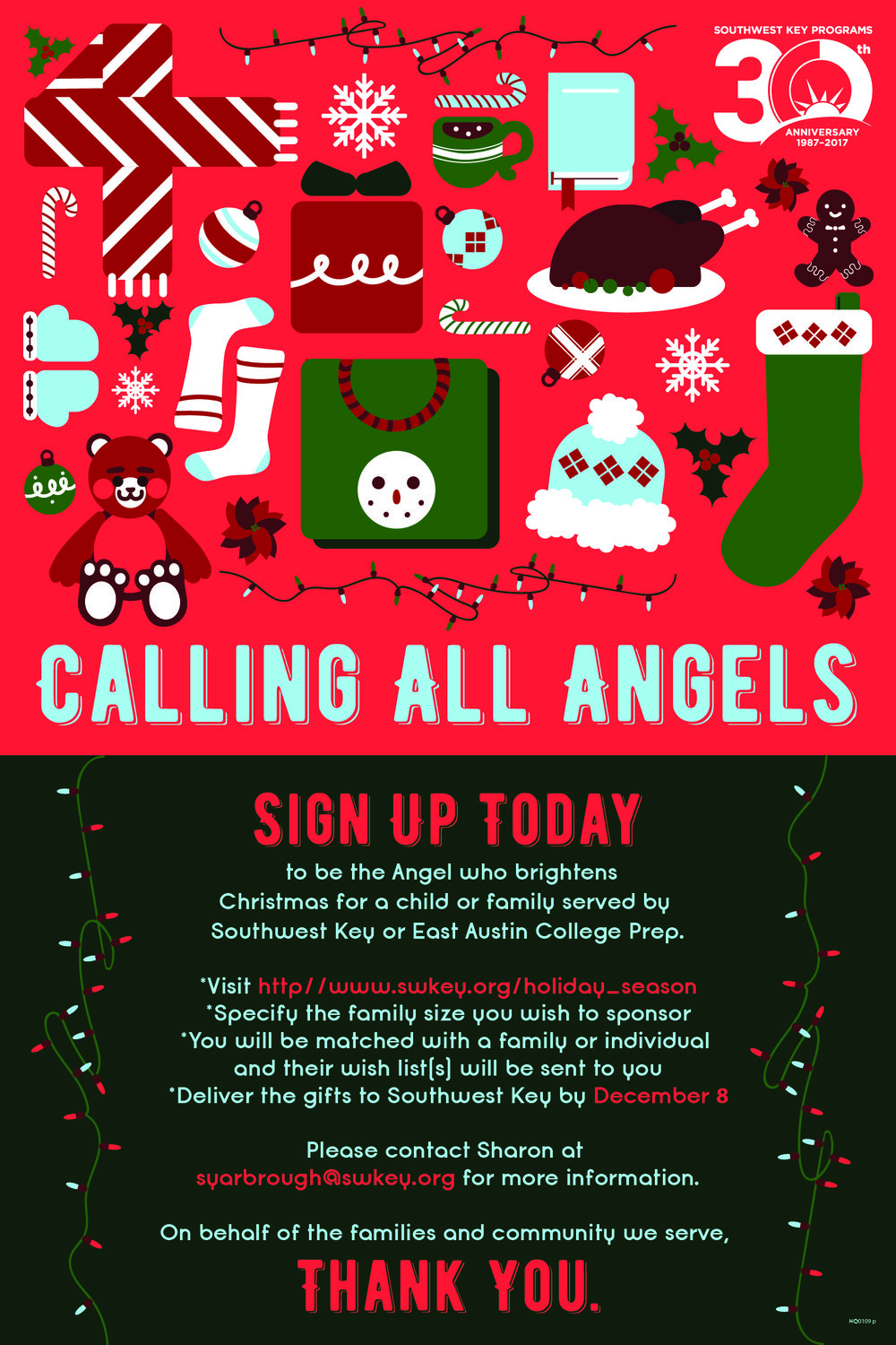 Christmas Angels Poster