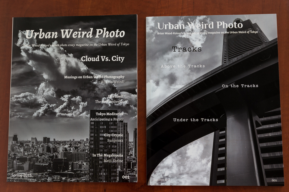 Issues 001 and 002 of UrbanWeird Photo Magazine