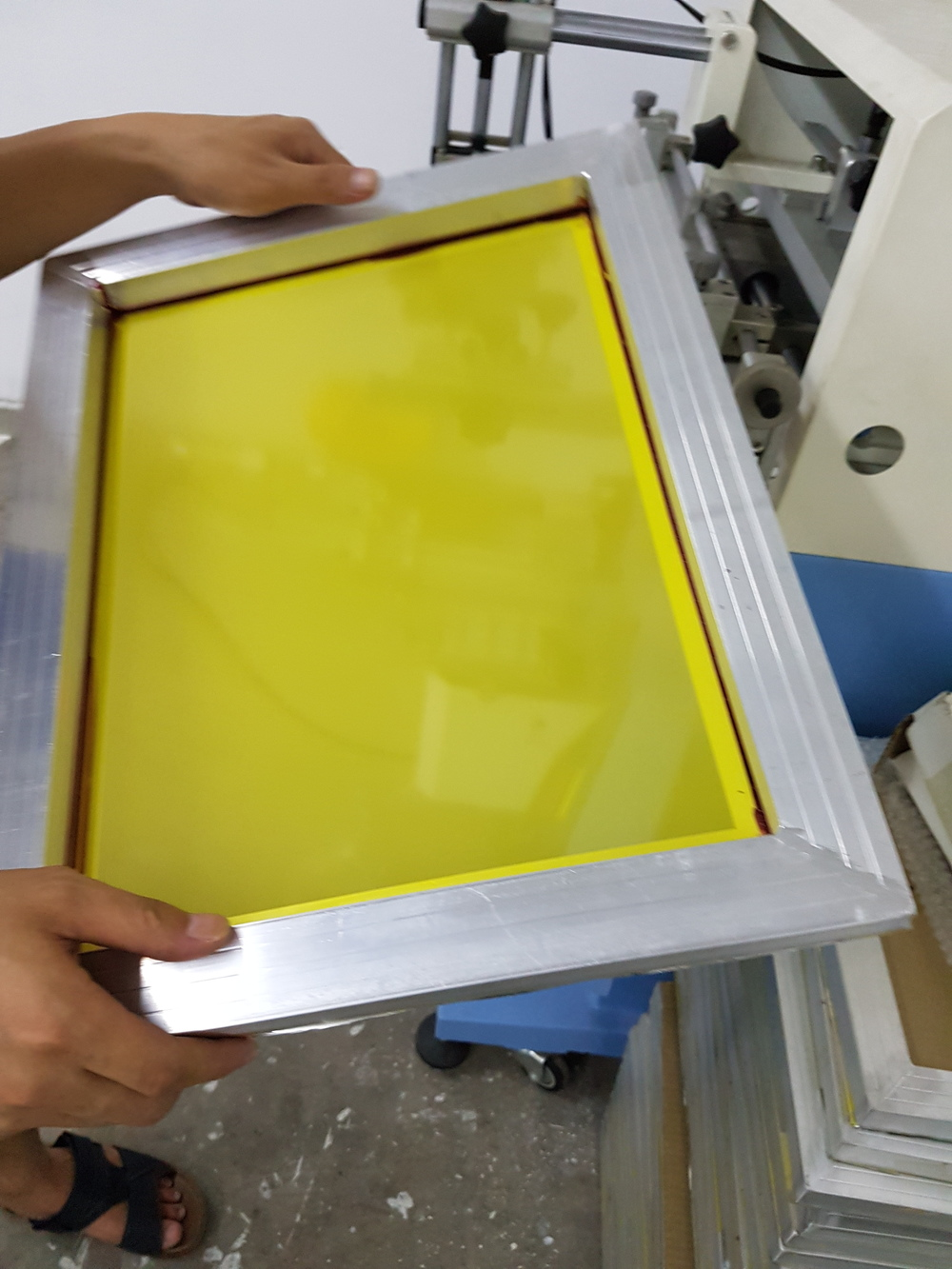 Cosmetic Bottle Screenprinting Screen