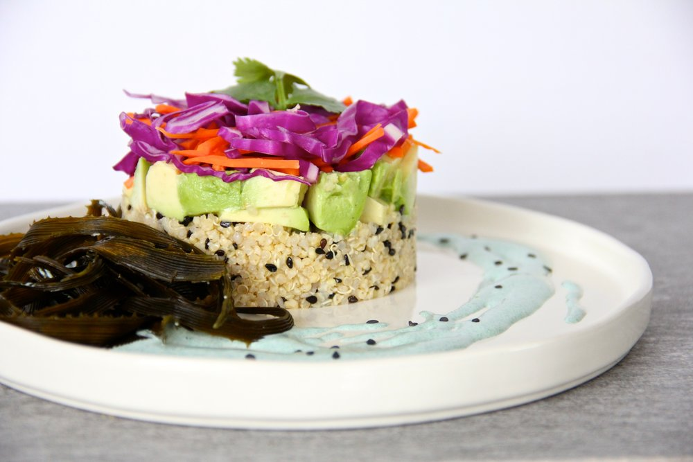 Sesame Millet Sea Vegetable Stack