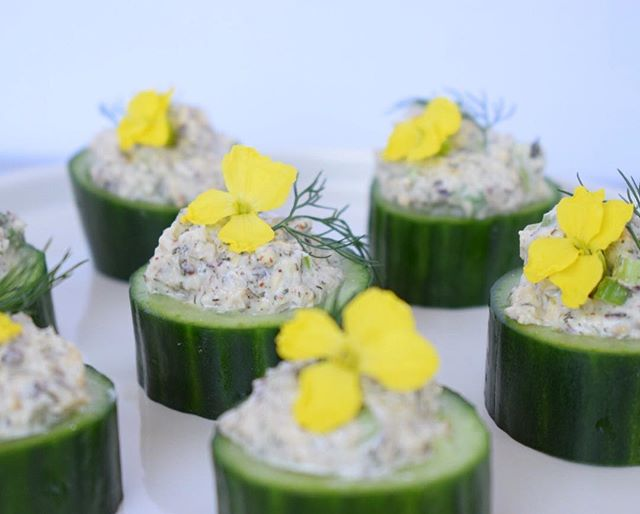 Cucumber + Sunflower Pâté (aka Mock Tuna Salad) I made these raw food appetizers a short while ago when the kale flowers were in bloom ✨🌿 . . . #amusebouche #appetizers #mocktuna #mocktunasalad #veganappetizer #rawfood #livingfood #plantfood #plantbased #rawvolution #vegan #vegetarian #beautifulfood #foodphoto #foodphotography #bestofvegan #food #health #healthyfood #livewell #eatwell #organic #vegansofig #whatveganseat #yogafood #thesproutedpalate