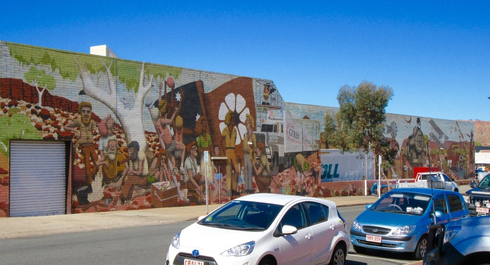 A beautiful mural in Tennant Creek, NT.