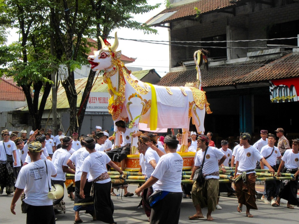 A traditional Balinese funeral.