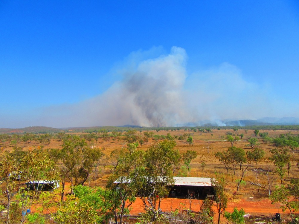 The Bushfire, early in the day