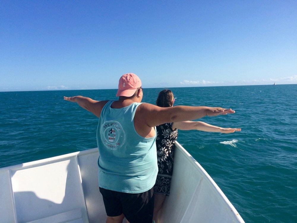 Jacob and I reenacting the Titanic.