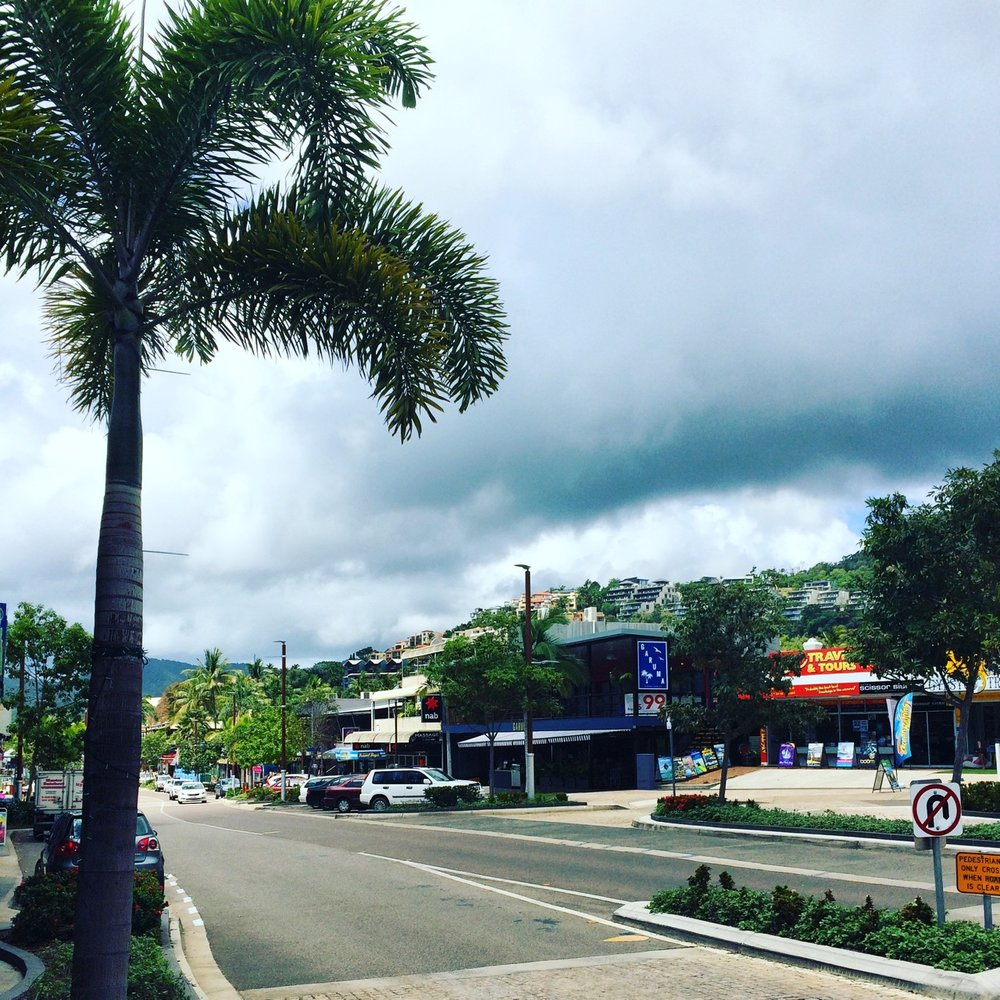 A glimpse of downtown, Airlie Beach
