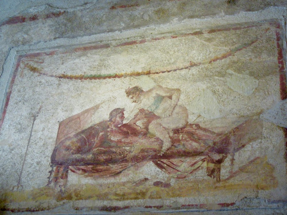 One of the many erotic frescoes that has survived the centuries...