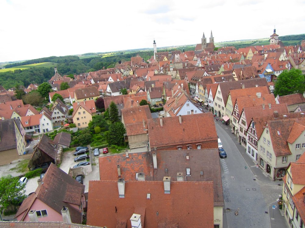 A bird's eye view of Rothenburg.