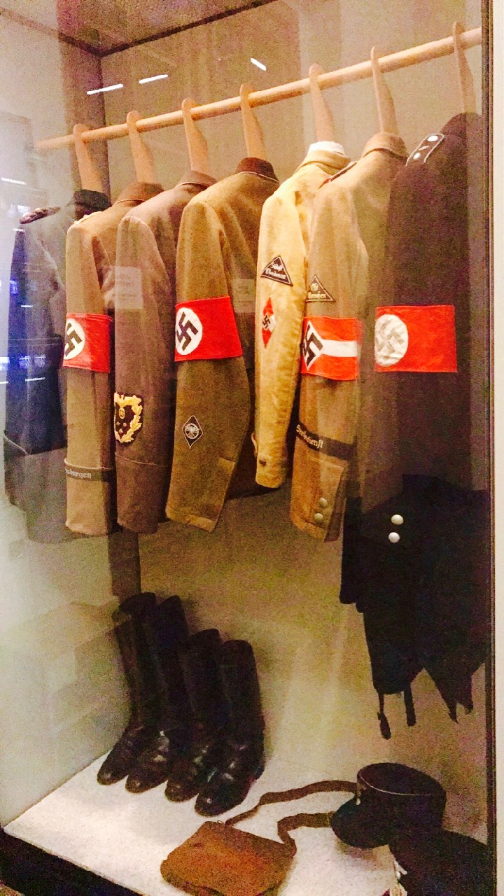 Actual uniforms worn by the Nazis.