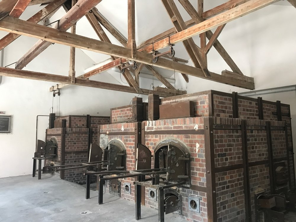 The crematory at Dachau.