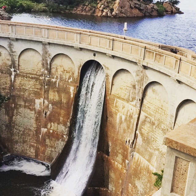One of the beautiful dams in the Wichita Mountain Wildlife Refuge