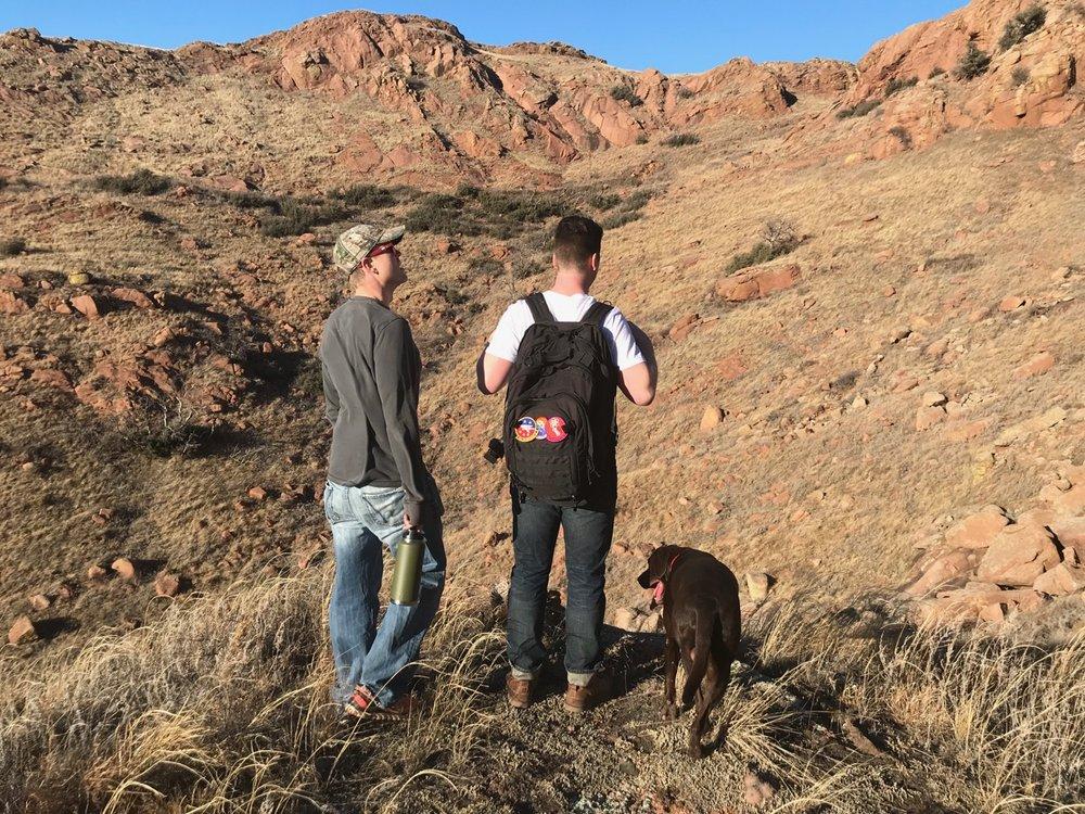 Tyler and John enjoying the views of Baldy Point