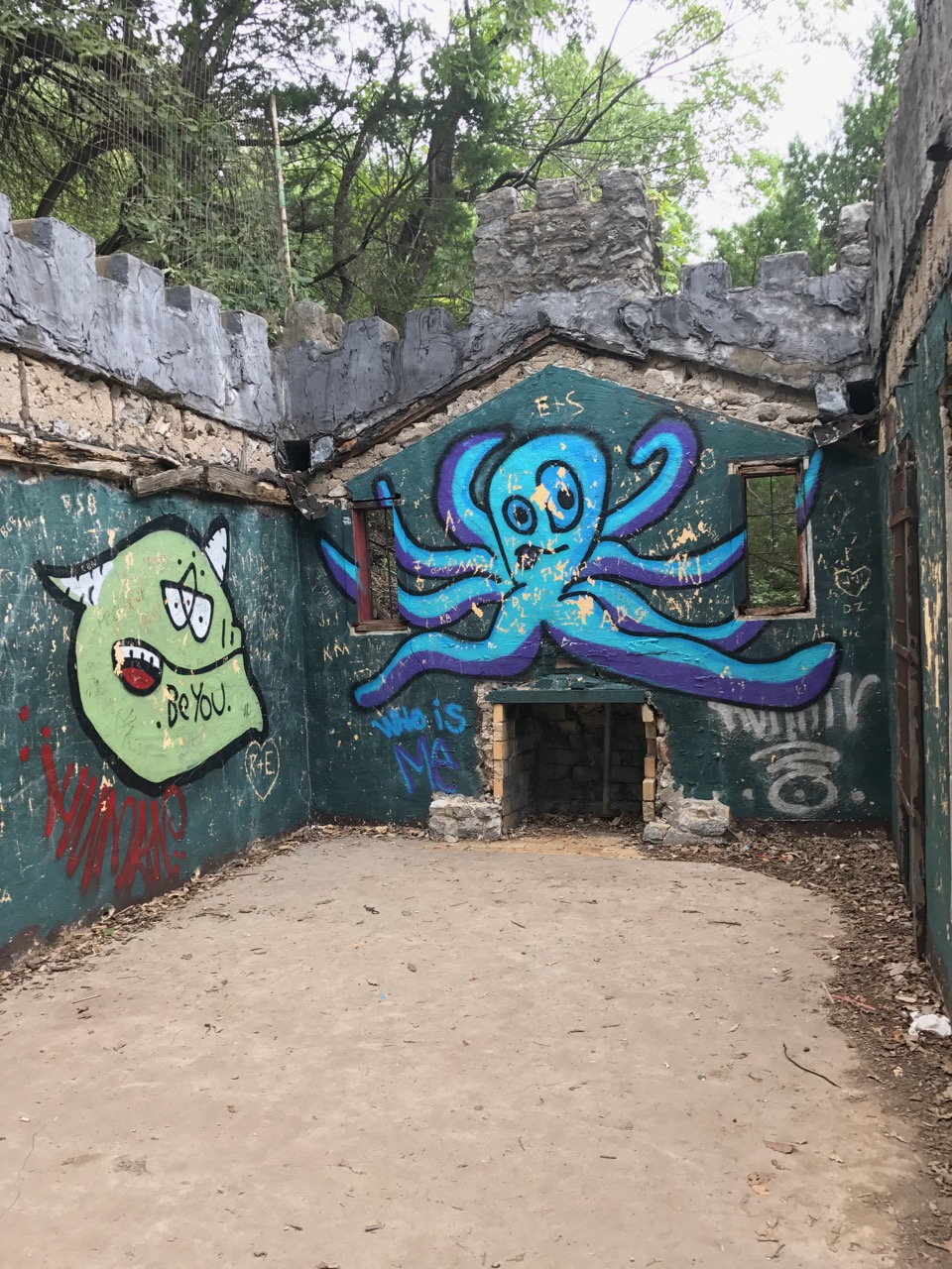 Part of the old castle at Turner Falls