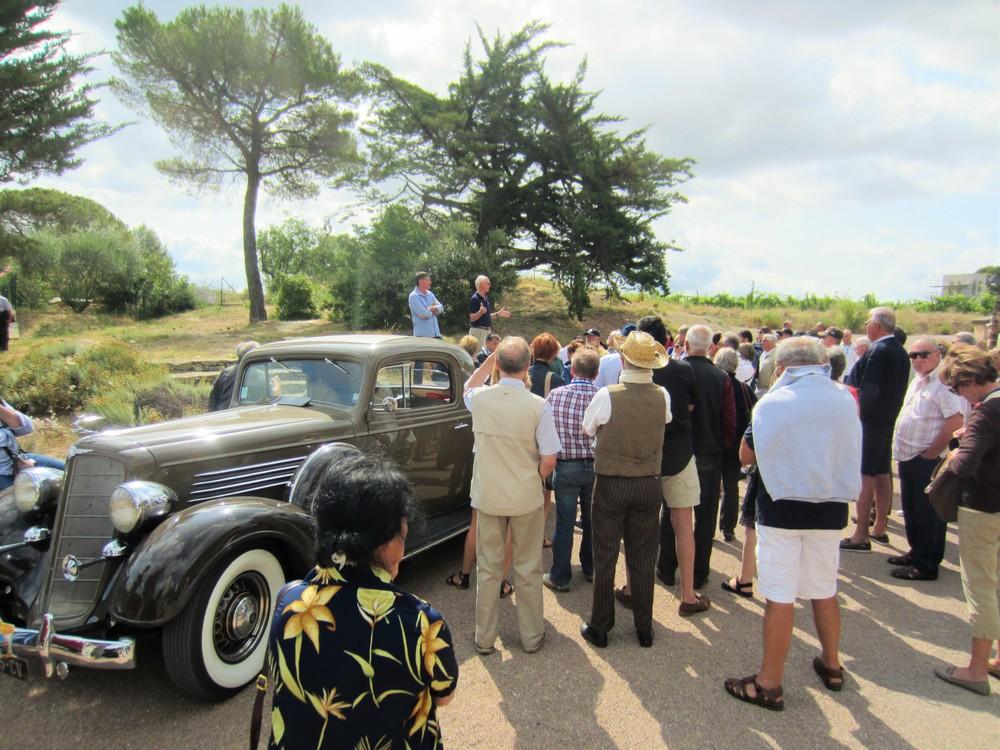 Old car and vineyard visit