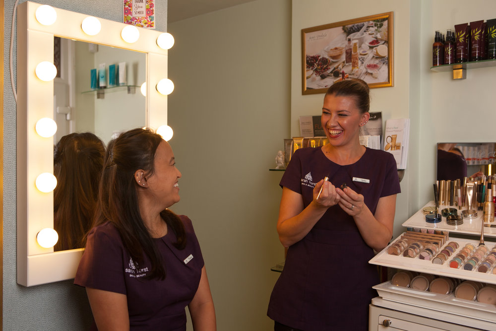 Our beauty therapists Yulia and Rasana