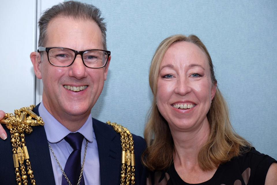 Sarah Hurst and Mayor of Brighton
