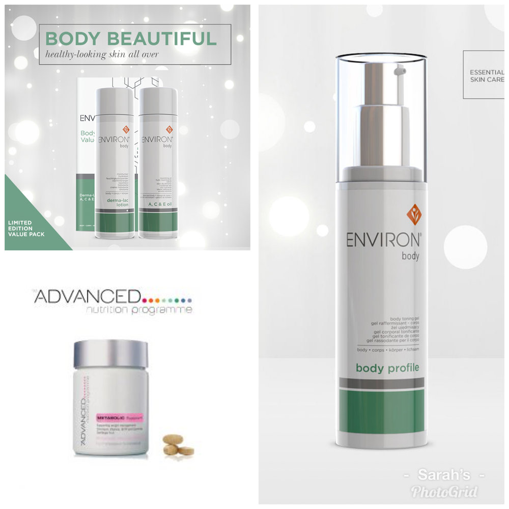 Body profile, Environ body oils, ANP metabolic support