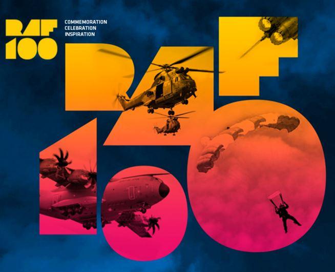 RAF100 Branding – Image credit: Google