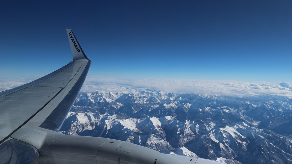 Above the Swiss Alps