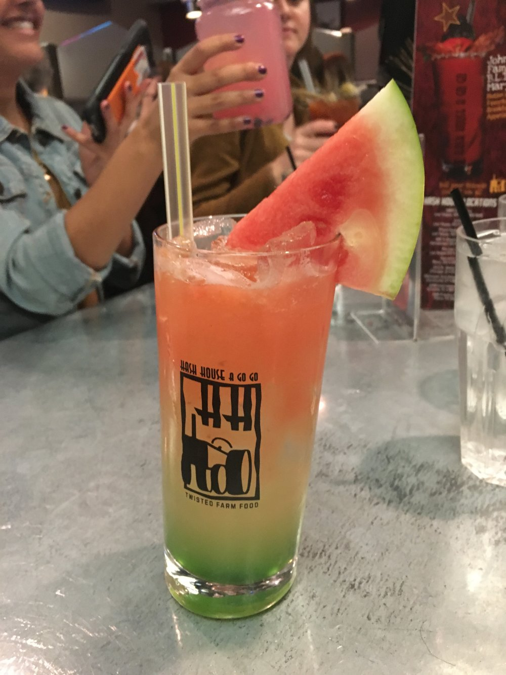 Spiked Kiwi Watermelon Lemonade