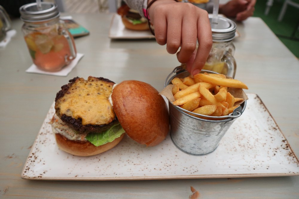 Vintage Cafe's Burger & Fries