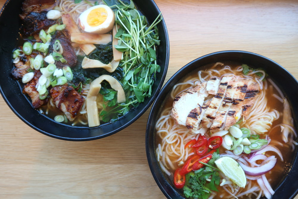 Wagamama: Spicy Chicken Ramen & Duck Ramen