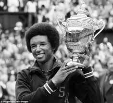 Arthur Ashe - The first black man to win the U.S. Open in Tennis