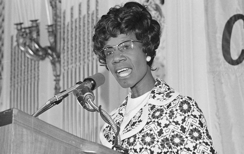 Shirley Chisholm - The first black women elected to Congress in 1969