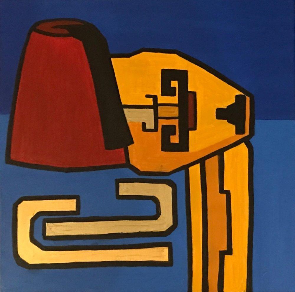 interchange III   60 cm x 60 cm x 3.8 cm  Acrylic on canvas