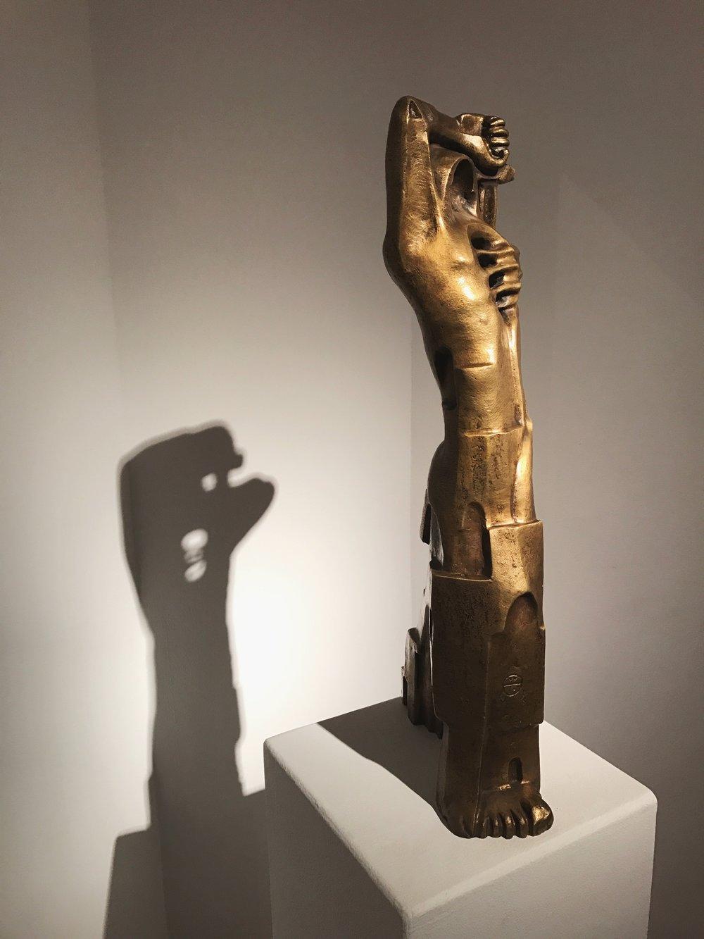 Gamal El Sagini   Bronze  15 x 67 x 28 cm