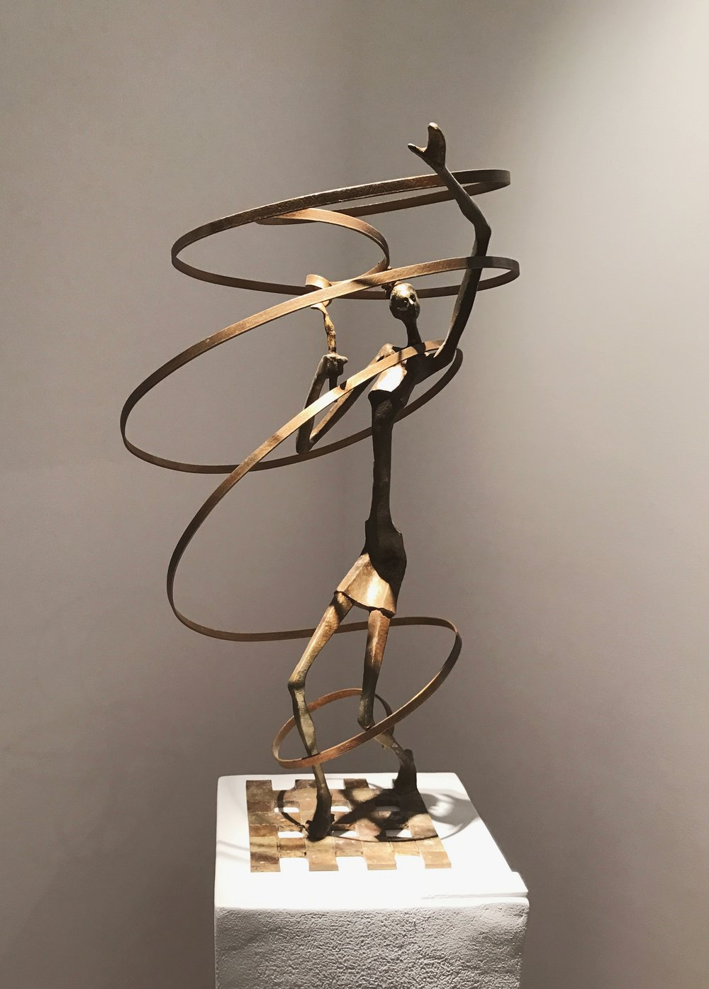 Nathan Doss   The Ribbon Dancer  Bronze  70 x 40 x 40 cm