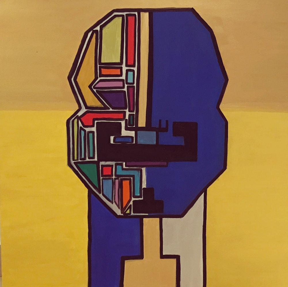 Tetris I   80 cm x 80 cm x 3.8 cm  Acrylic on canvas