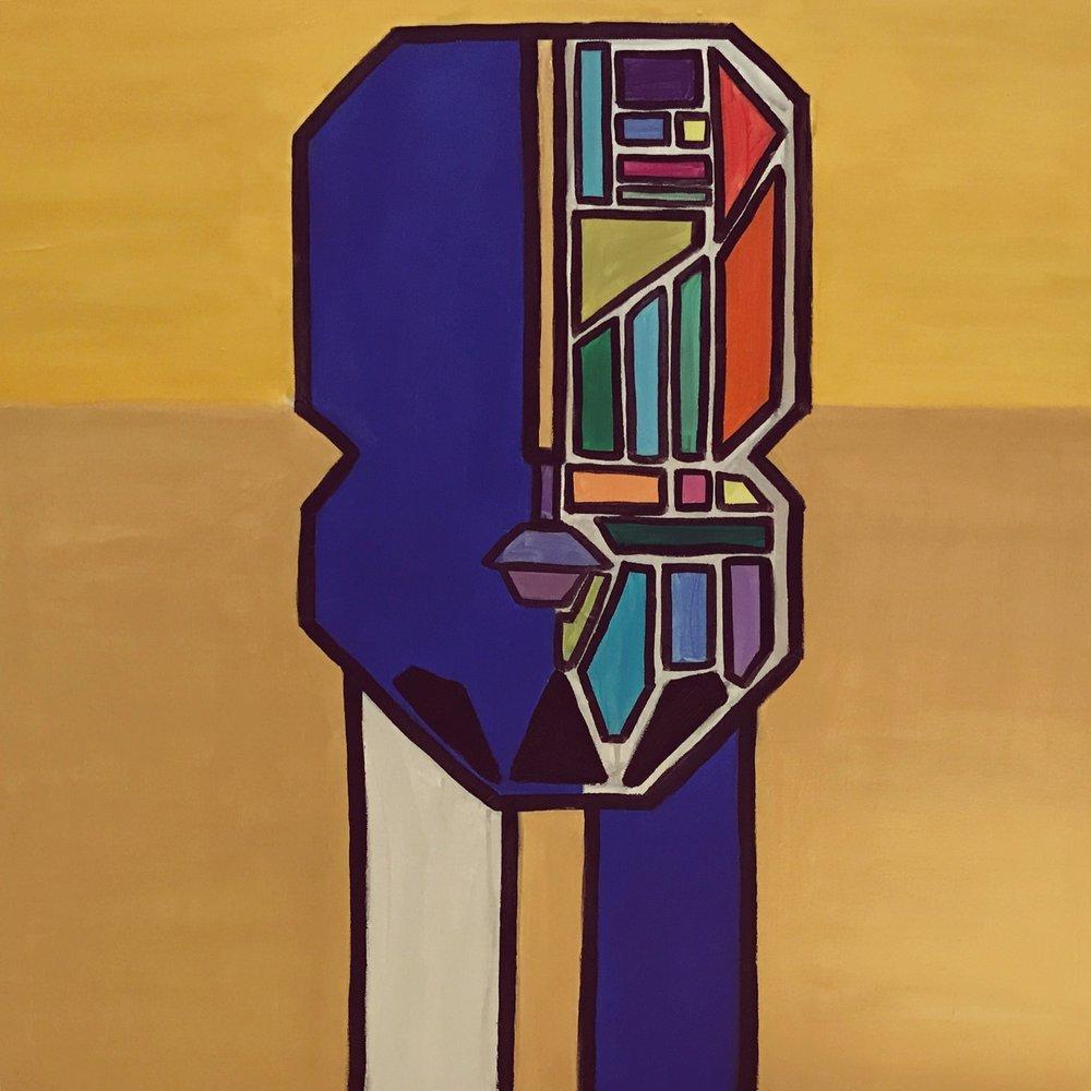 Tetris II   80 cm x 80 cm x 3.8 cm  Acrylic on canvas