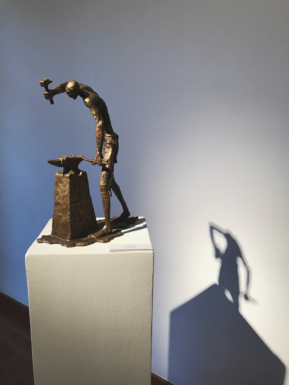 Nathan Doss   The Blacksmith  Bronze  42 x 33 x 15