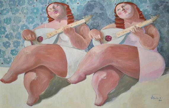 """""""Celebration""""   Oil on canvas  140 cm x 90 cm"""