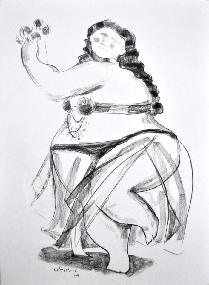 100 x 70 Bellydancer I-Charcoal-on-white-paper-100x70-5000.jpg