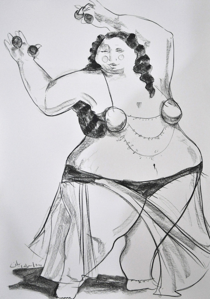 100 x 70 Bellydancer II Charcoal-on-white-paper-100x70-5000.jpg