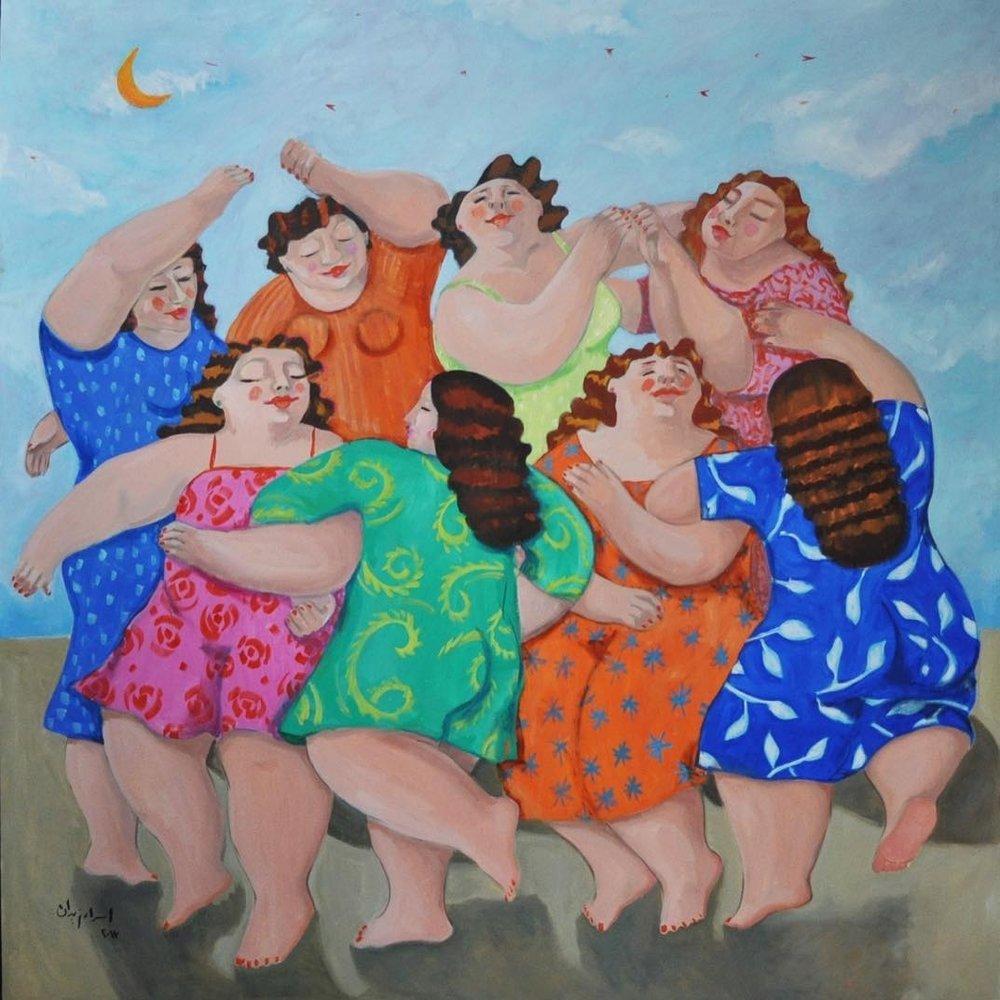 """Our Dance""   Oil on canvas  140 cm x 140 cm"