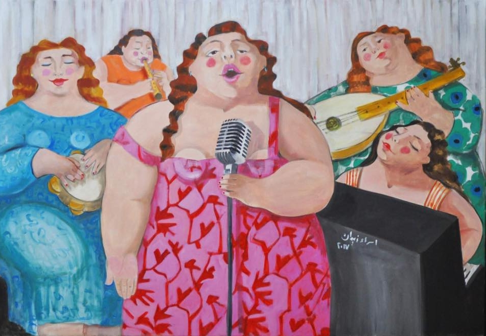 """Our Band""   Oil on canvas  120 cm  x 80 cm"