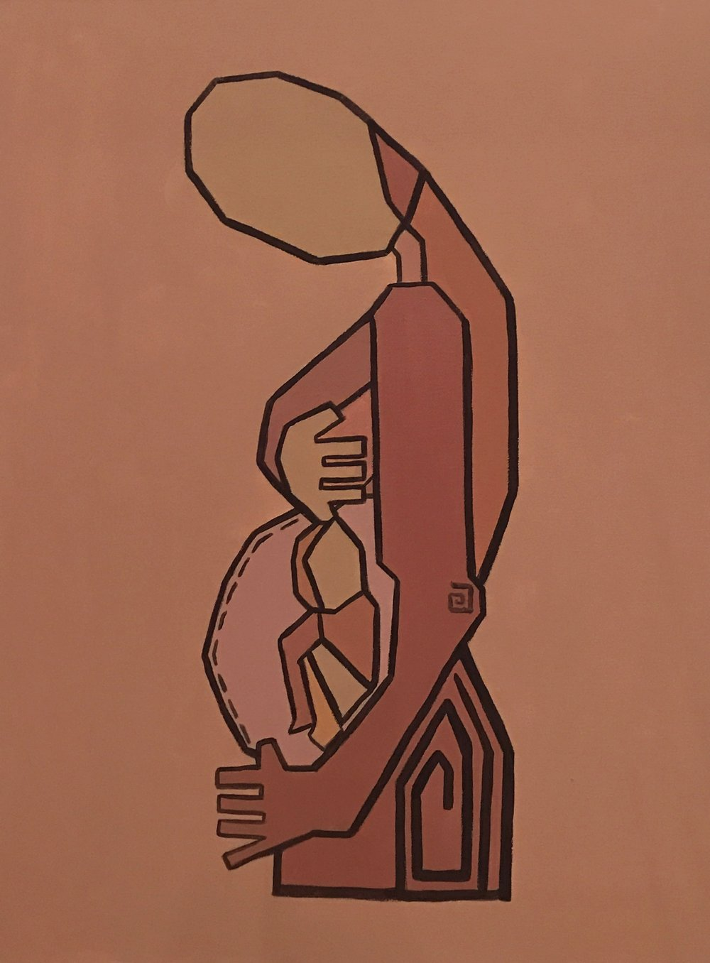 Motherhood III   Acrylic on canvas  80 cm x 60 cm x 3.8 cm