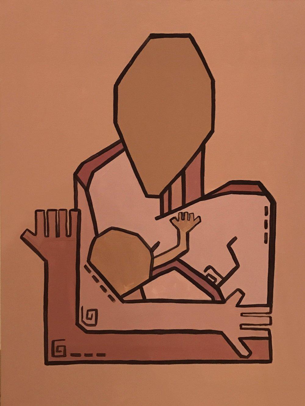 Motherhood V   Acrylic on canvas  80 cm x 60 cm x 3.8 cm