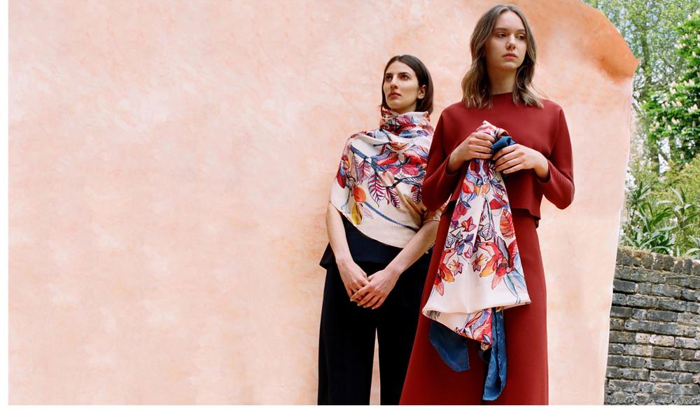eleni malami silk scarves editorial