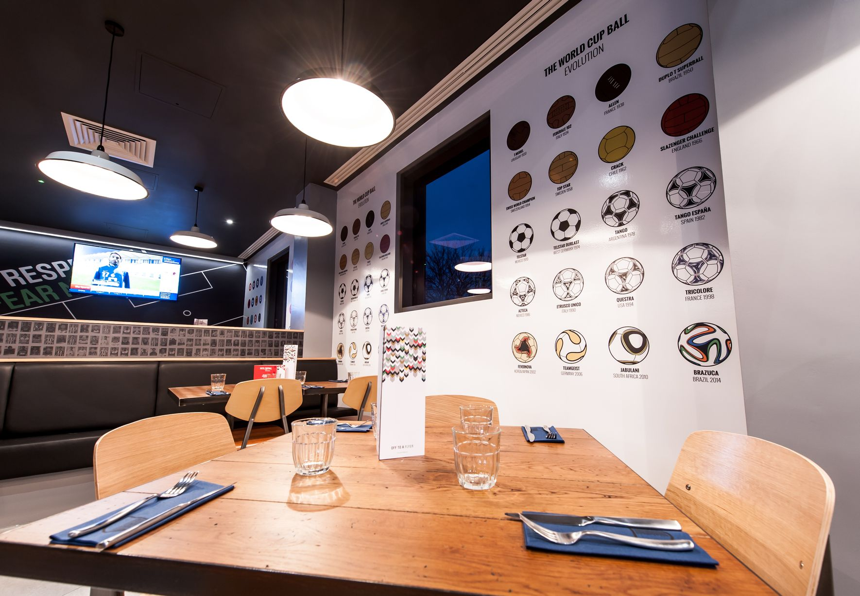 Football Wall Mural hotel football — callum dawes