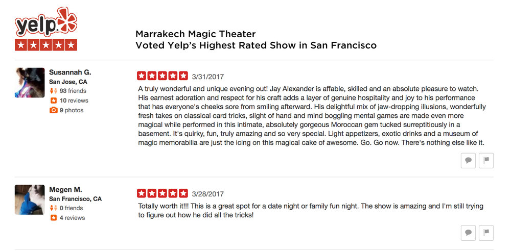 Click above to see all Yelp Reviews