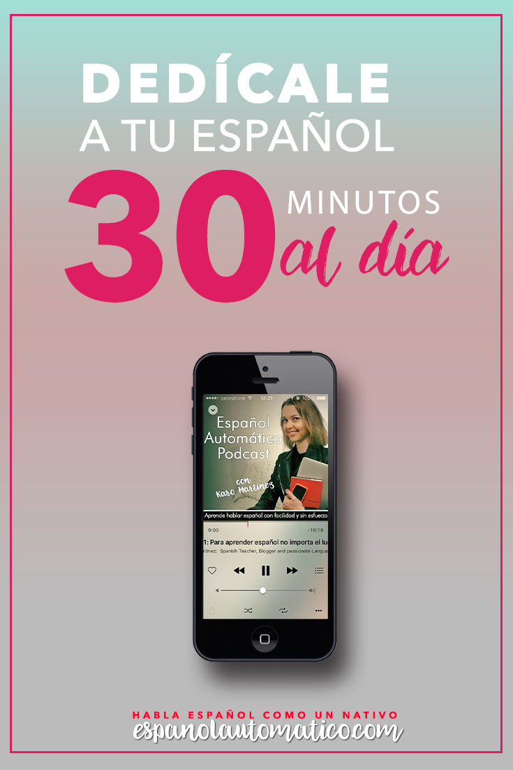 Español Automático helps you improve Spanish listening and Spanish speaking skills creating Spanish immersion environment to help you speak Spanish fluently and effortlessly. With Each episode you can download for free transcript so you can listen and read at the same time. Great way to improve on the go! You can learn Spanish while jogging or on way to work.  Topics: personal development, career advice, Spanish culture and much more. Pin in for later!