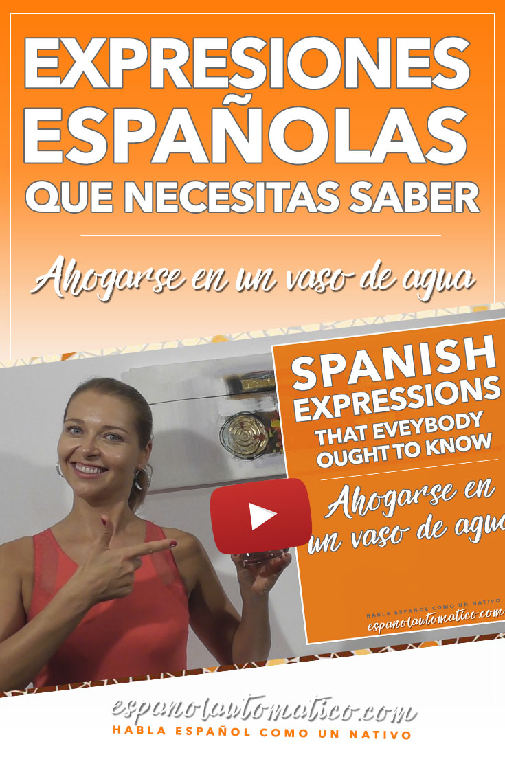 ¿Conoces esta expresión española? Ahogarse en un vaso de agua [Spanish Podcast 021] Learn Spanish in fun and easy way with our award-winning podcast: http://espanolautomatico.com/podcast/  REPIN for later