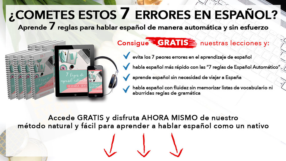 7 Laws to Speak Spanish Fuently: it's a system in which we base our methodology - is perfect of independent learners who are looking for the best way to learn Spanish without having to move to Spain. Actually you can create your own Spanish immersion by listening to authentic Spanish as often as possible. Learn more at: http://Espanolautomatico.com/7leyes