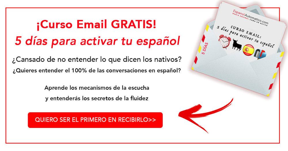 Inscripcion curso email 5 dias para activar tu espanol